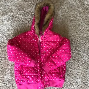 Gymboree winter puffer pink coat